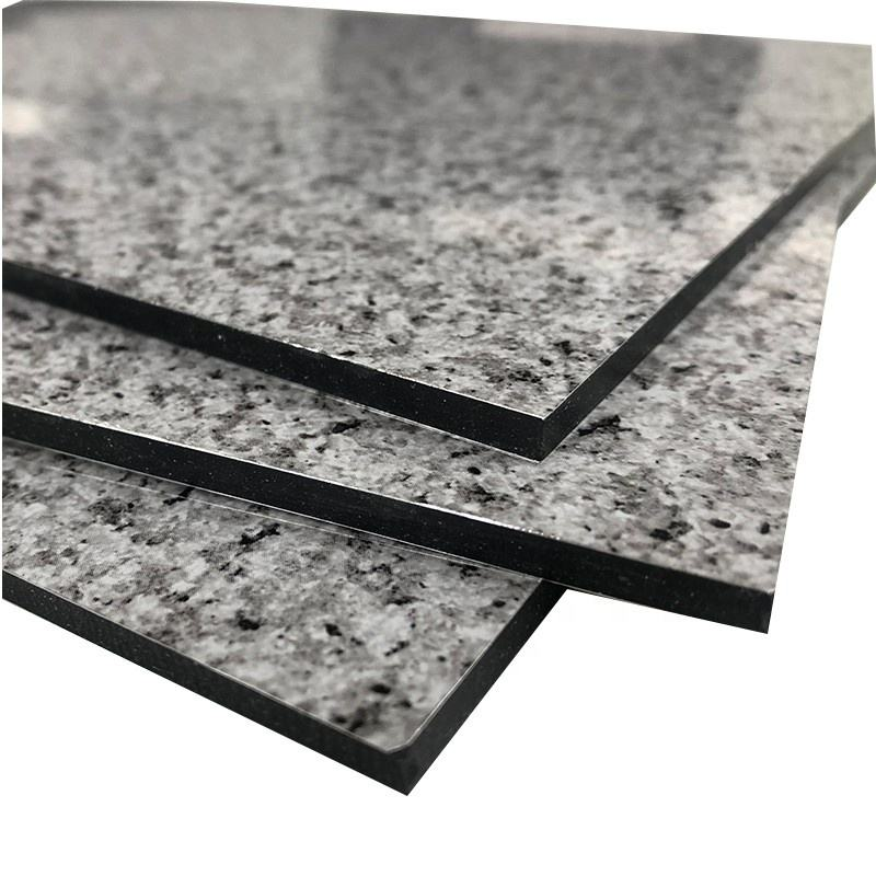 Factory price Granite and marble texture aluminium composite panel For interior wall cladding