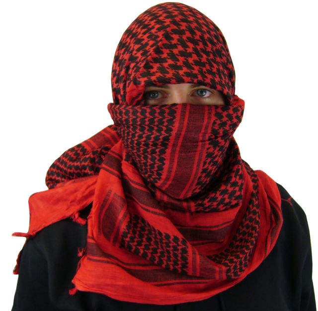 military Arab Style Men Women Cotton Military Hijab Multi function Keffiyeh Scarf