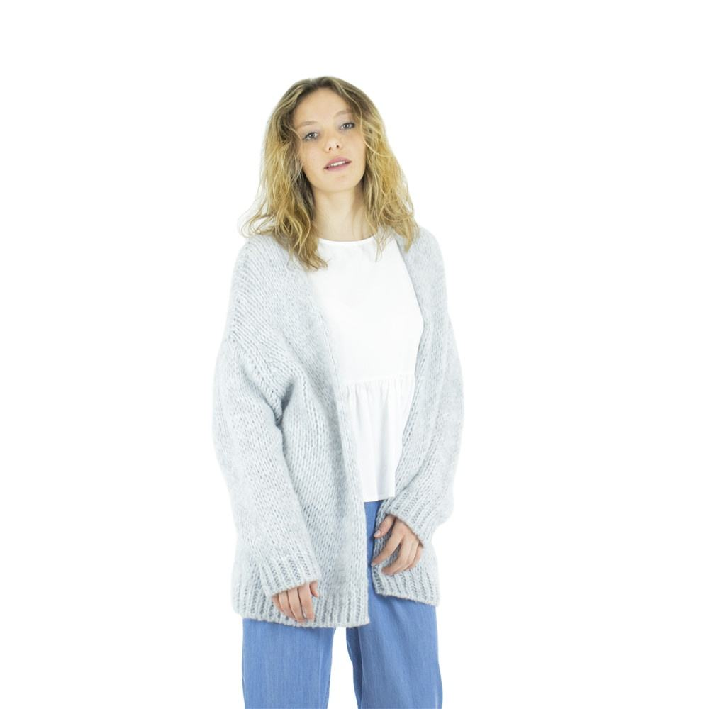 Italian Made Acrylic wool blend female warm cardigans for ladies