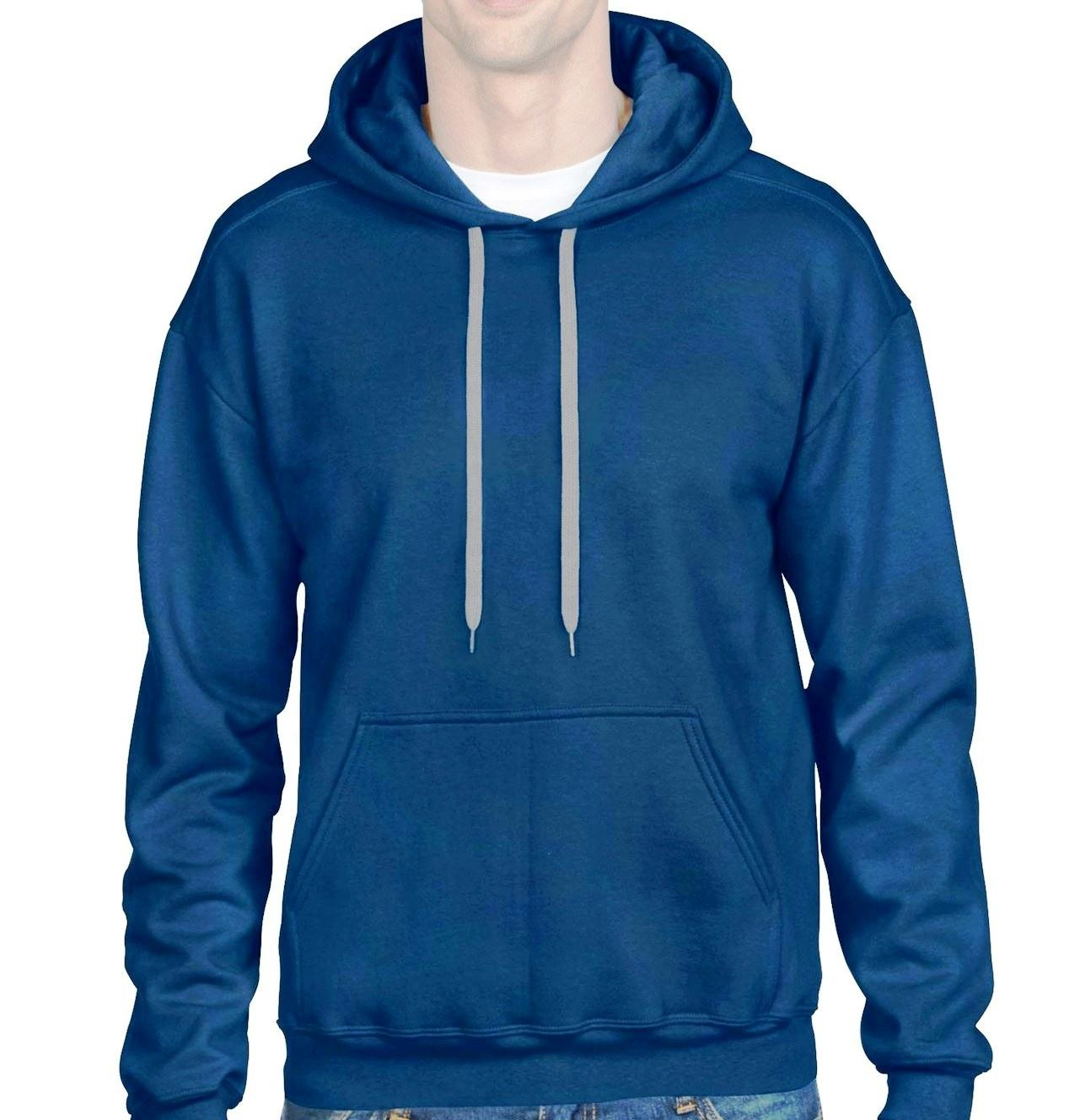 Custom Fleece 50% Cotton 50% Polyester Drop Shoulders Men's Oversize Pullover Hoodie