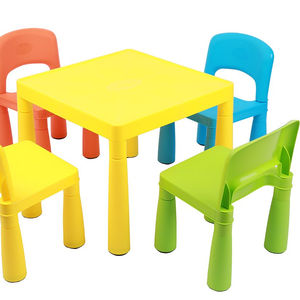 Plastic Colorful Table and Chair Children furniture sets Vibrant color kindergarten, nursery home, daycare, preschool furniture