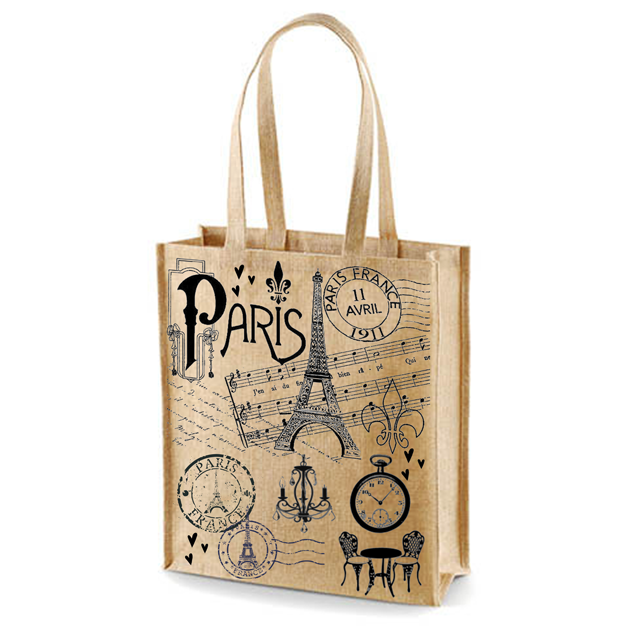 In Shopping Bags Tote Fashion printing shopping jute bags our Certification ISO9001-2015 ISO14001-2015 SA8000-2014