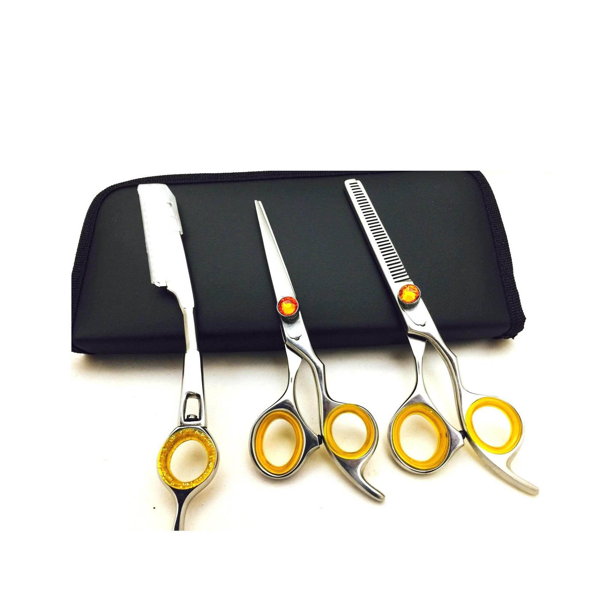 3 Pieces Barber Scissor Set Hair Scissor For Salon Cutting Scissor