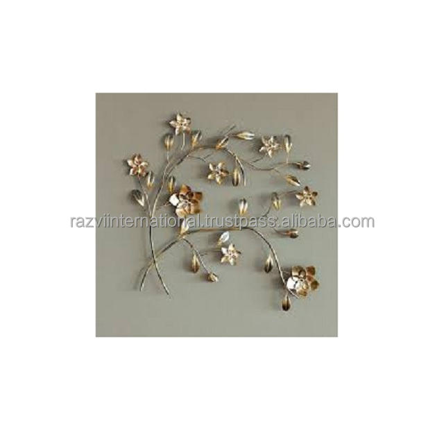 Gold plated leaf wall decoration