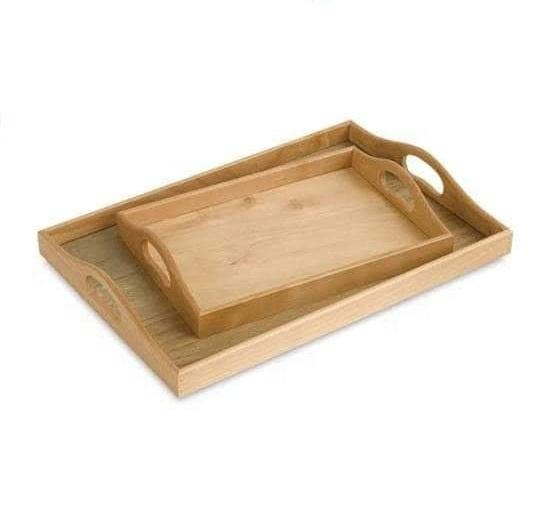 Natural Finish Mango Wood Serving Tray Set Hotels & Restaurant Trays Kitchenware Coffee Table Tray 2020