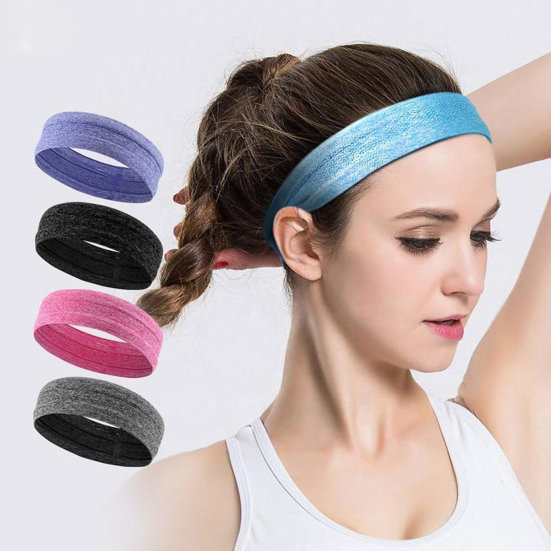 Custom Printed Super Absorbent Elastic Sports Headbands Silicone Nonslip Stretchy Sweatbands
