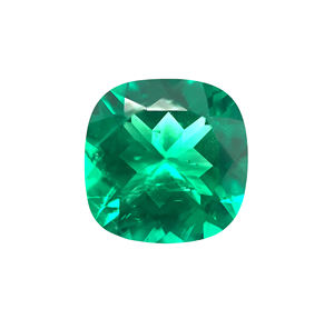 Biron Lab-Grown Anti-Cush Cut Natural Look Inclusion Colombian Emerald