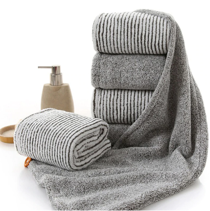 Universal Bamboo Charcoal Fiber Dry Hair With Button Quick Towel Super Absorbent Shower Bathroom Towel For Woman 65*26cm