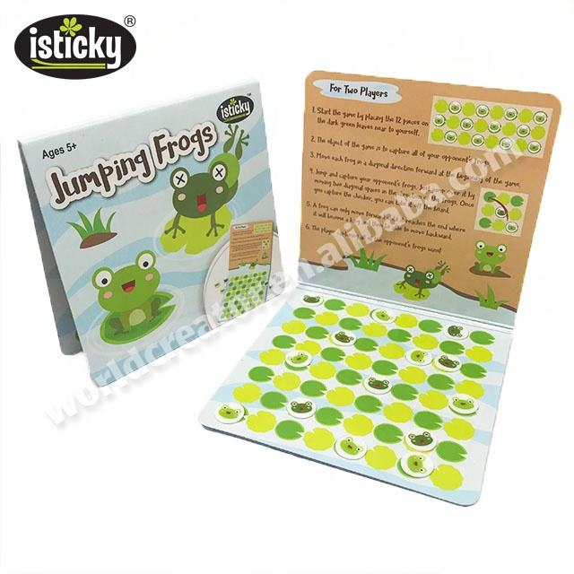 Children Travel Games Checkers Jumping Frogs Board Game