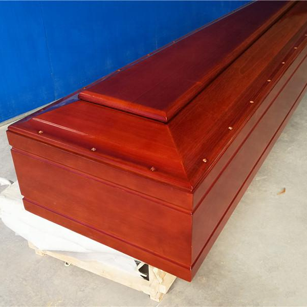 Solid Wood Coffin & Casket With Flower Carving