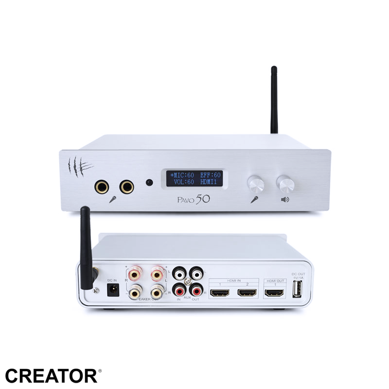 Karaoke home theatre system HDMI mini bluetooth 50w amplifier
