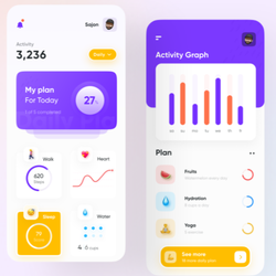Health and Activity Tracking App Design | Android Fitness Tracker App
