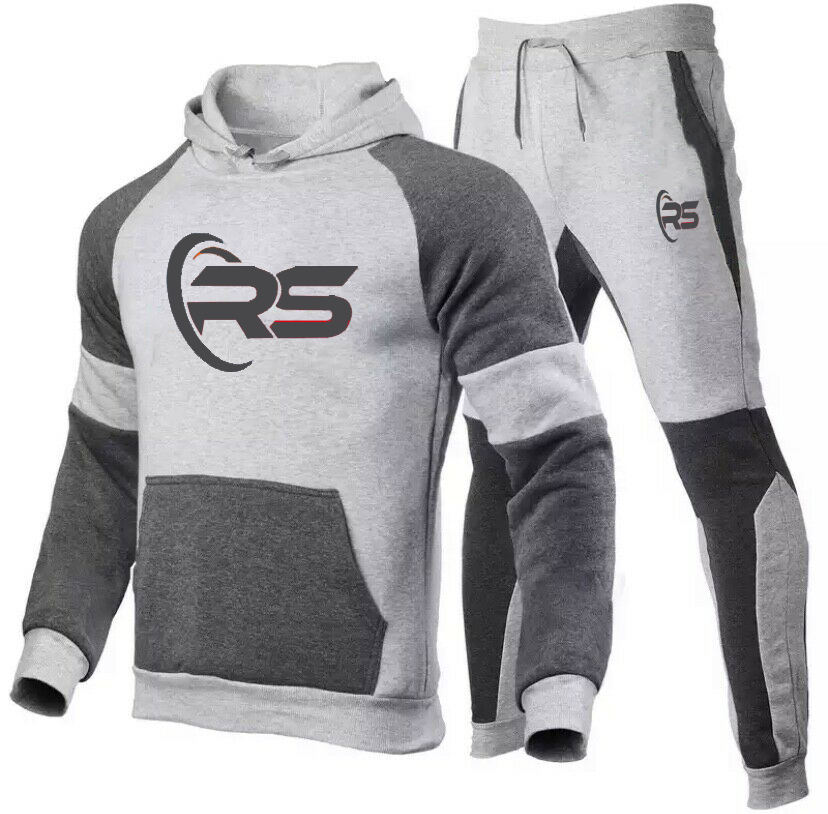 Mannen Trainingspak Atletische 2 Stuk Casual Broek Hooded Track Suite Active Wear Sportkleding Set Winter Collectie Training Trainingspak