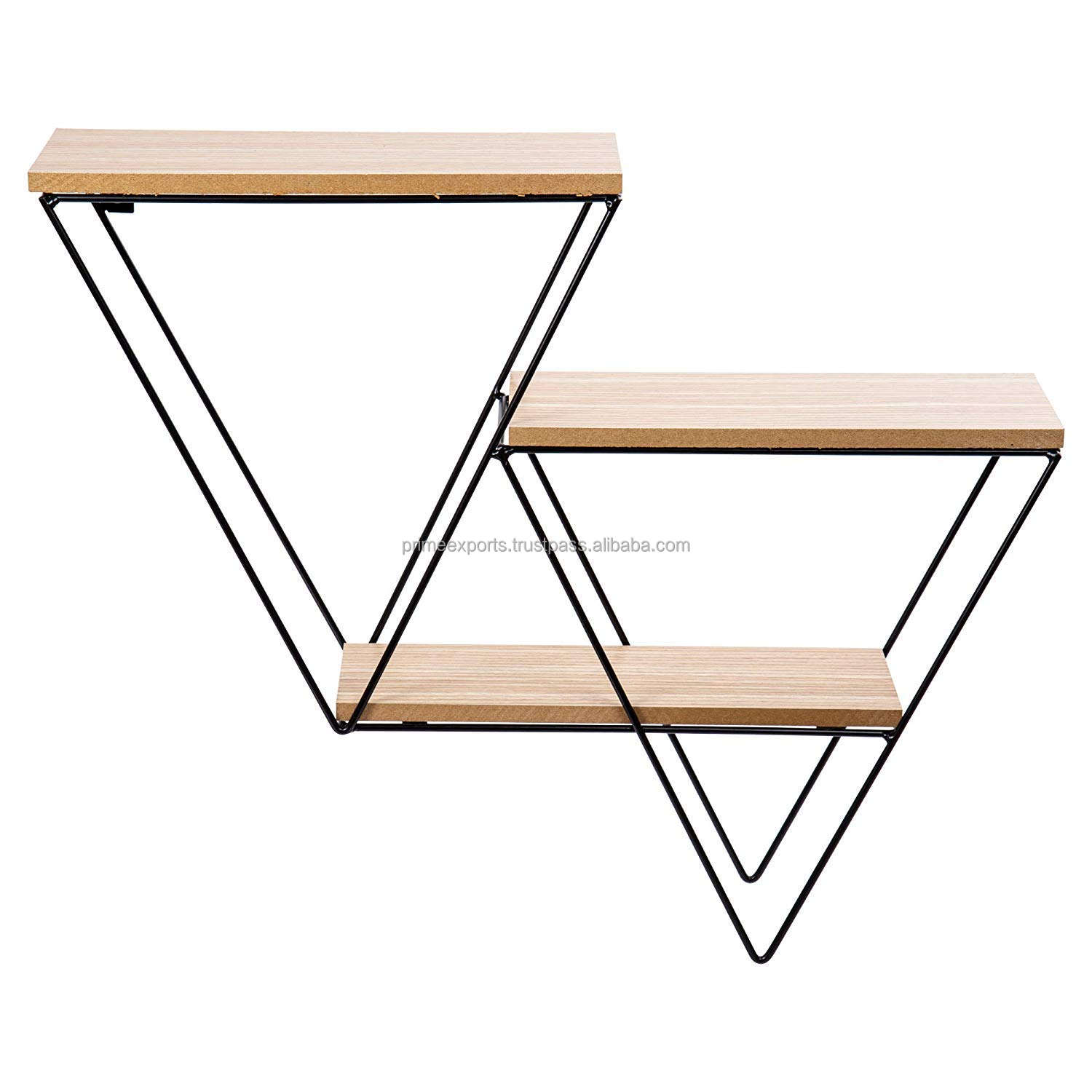 Estante de pared con formas geométricas, estantería de pared con forma triangular, de diseño escandinavo y europeo, nuevo