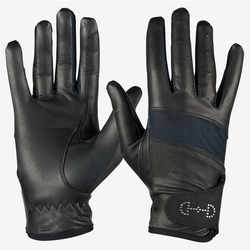 Joxar Horse Riding Equestrian Women's Leather Mesh Gloves
