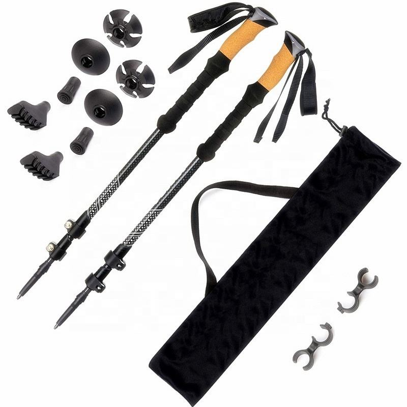 Außen Ultraleicht Carbon Wandern Stick Stretching Falten Mountain Walking Stick,Trekking Pole
