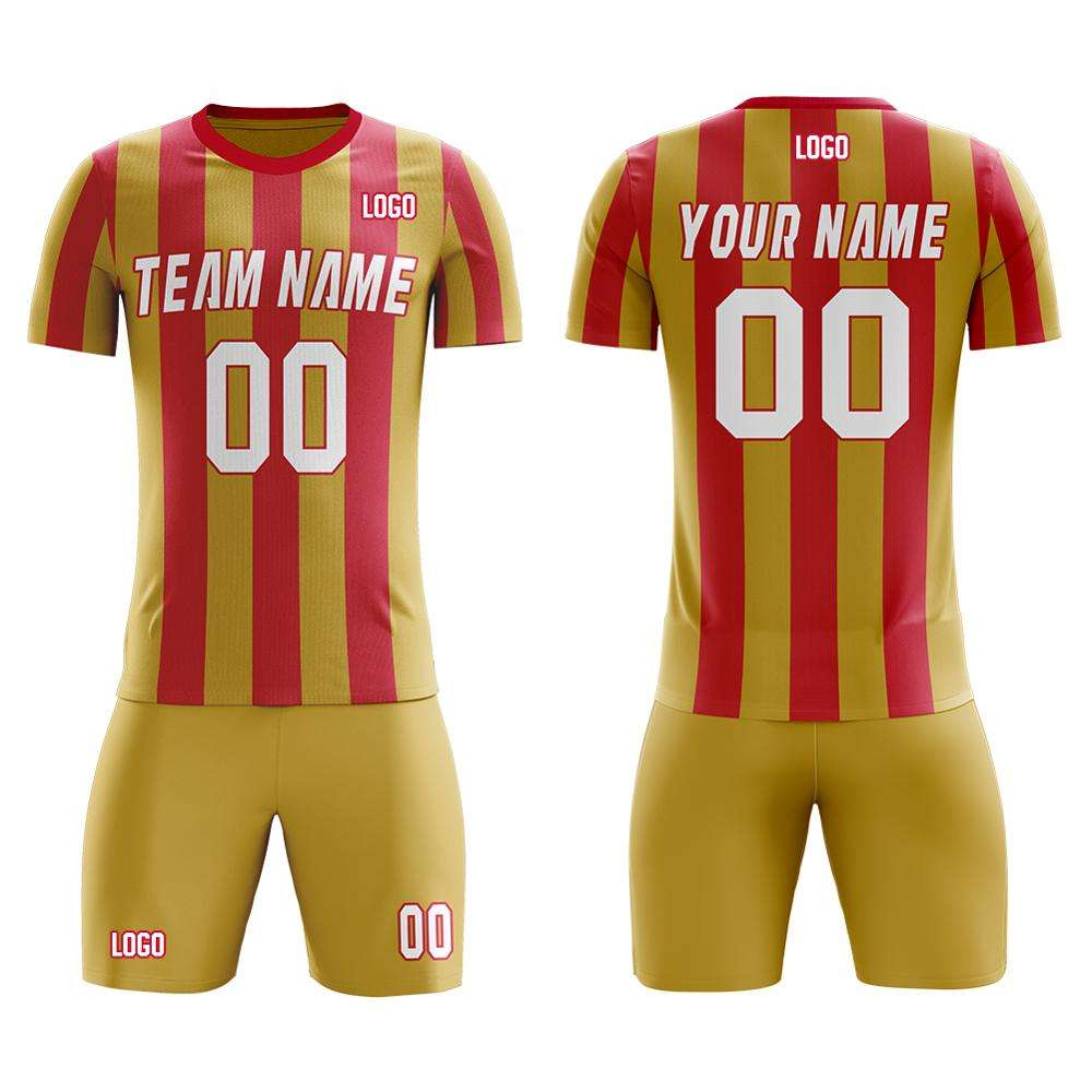 Oem Customized Soccer Jersey 100% Polyester Mesh Breathable Soccer Kits