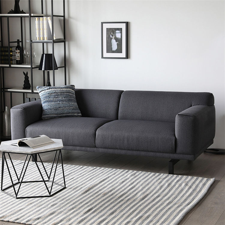 Living Room Luxury furniture Manufacture fabric /leather L sharp sofa metal leg and the headrest movable for home use