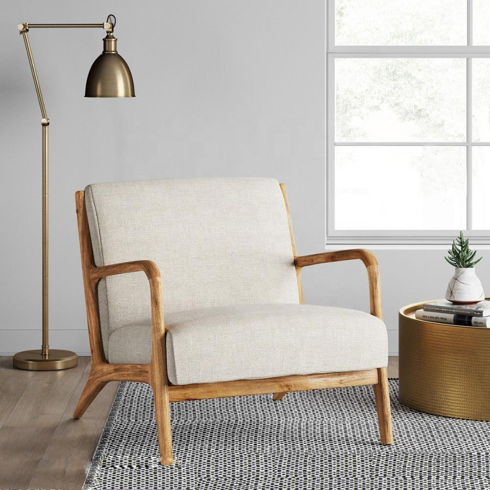 modern wooden arm chair living room scandinavian home furniture
