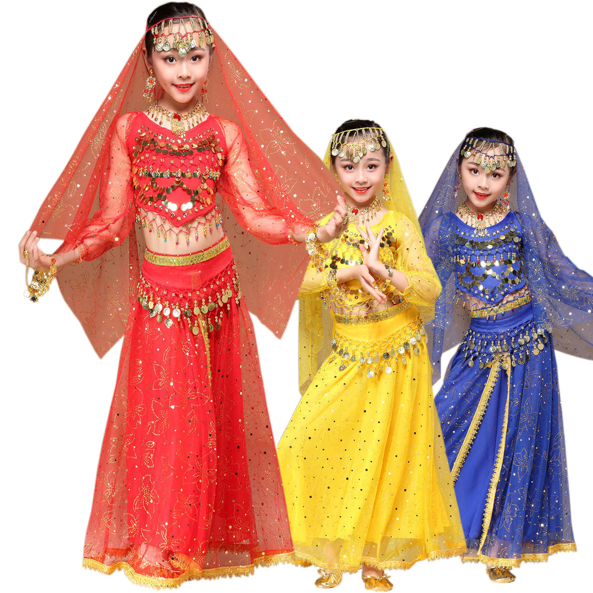 Fashionable High quality indian belly dance wear ET8100 for Children girls