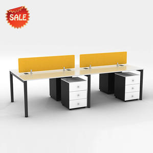 Simple office desk writing table workstation for small office free combination office furniture