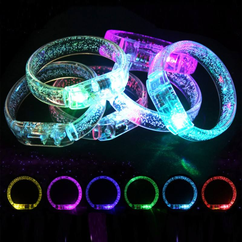 LED Flash Bracelets Multicolor Light Up Bubble Bracelet Glowing Toy Stick Party Favors Luminous Christmas Toys Wristband