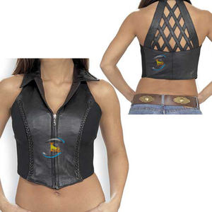Women Vest Motorcycle Vest Leather Vest 2018