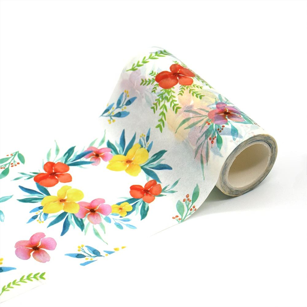 Roll Sparkle Packing Air Mata Warna Solid Smysteriou Cap Washi Tape