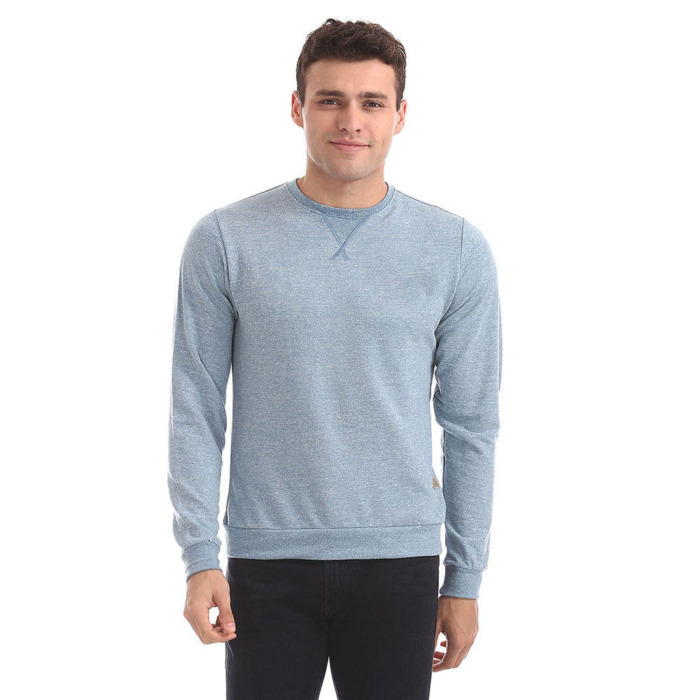 Plus Size Men Cotton Made sweatshirts In Plain Color With Custom Logo Design / Screen Printing Sweatshirts For Sale