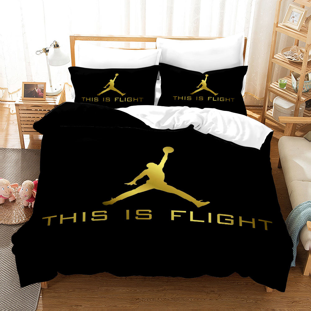 Hot selling duvet cover set 3d printed basketball bedding set double adult factory price