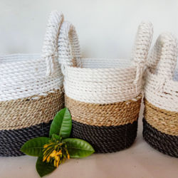 Buy 1 Get 2 Free Storage Baskets 3 Colours Handmade Environm