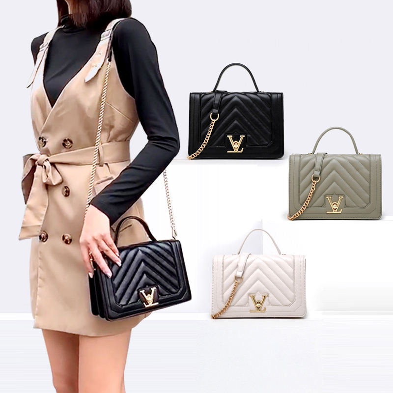 2020 New Ladies v word Square Shoulder Hand Bags Cross Body Purse Designers Handbags For Women