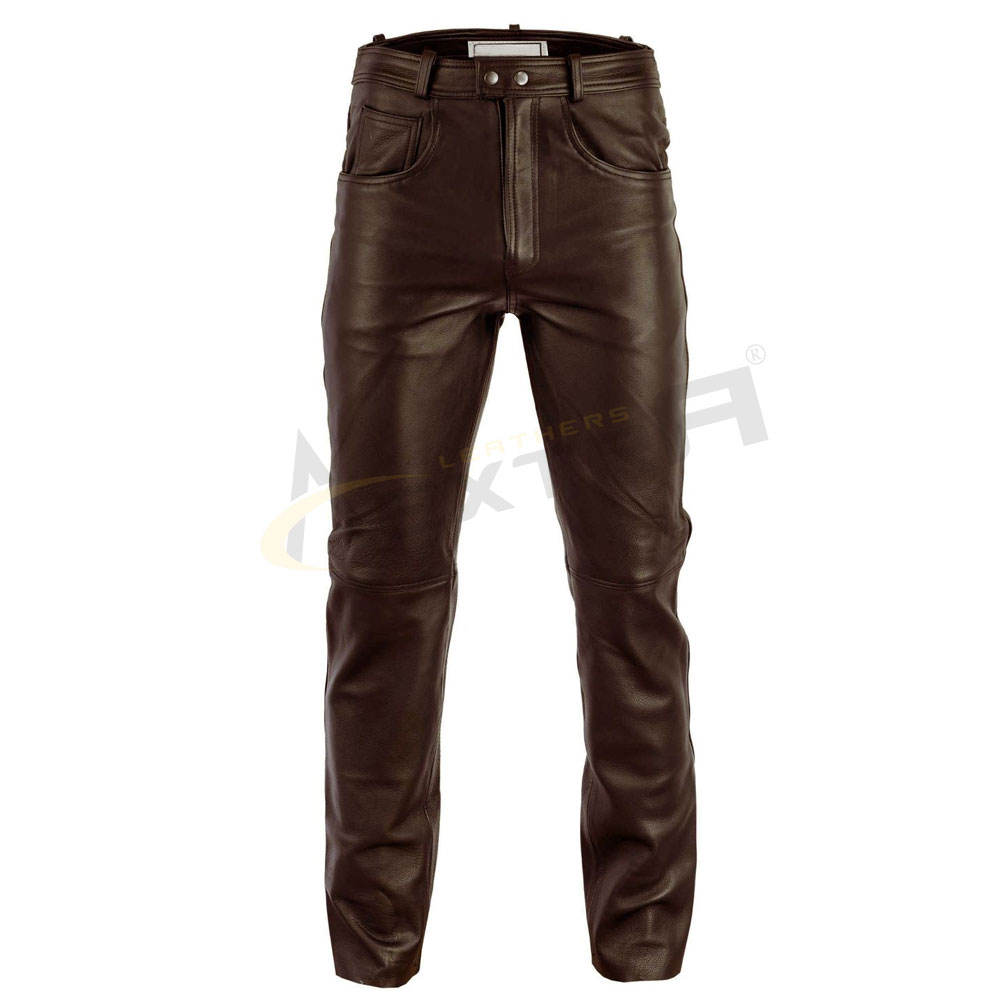 Latest Design 2021 Season Men Fashion Soft Leather Pants