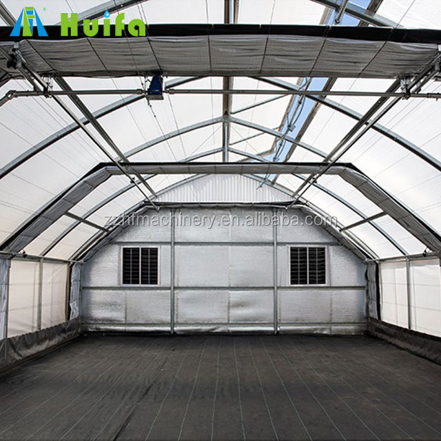 Commercial Automated hydroponics Light Deprivation Blackout Greenhouse