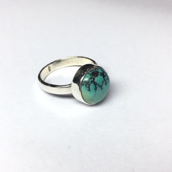 925 solid sterling silver ring with real high quality turquoise stone ring silver plain ring,filigree ring,turquoise ring