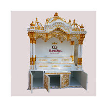 Wood Home Temple For Krishna Iskcon Mandir Wooden ISKON Altar for Lord Jagannath Carving Pooja Mandap