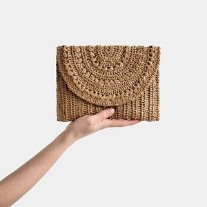 Wholesale unique hand woven raffia purse from Vietnam