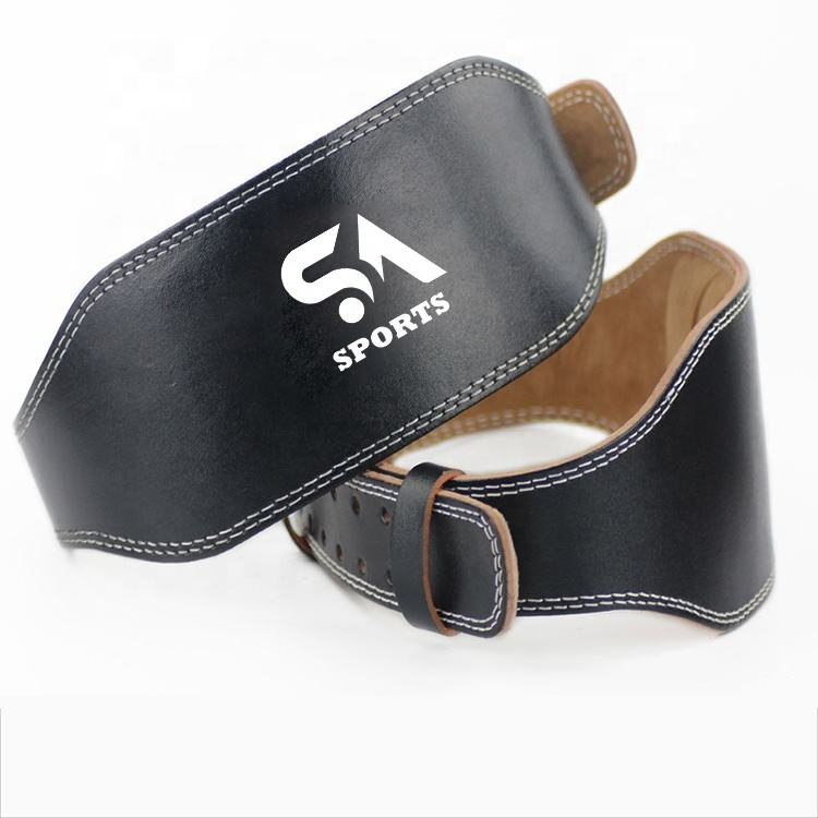 Leather Weight Lifting Belts Customized Gym Belts Unisex Waist Support Belts