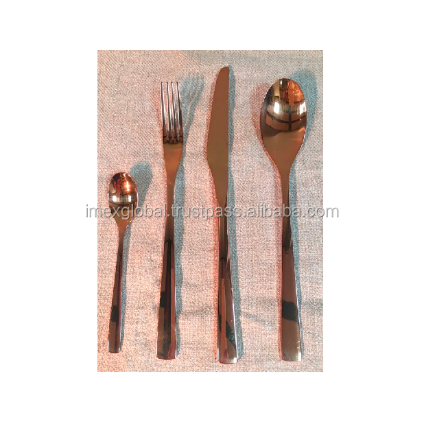 Flatware Set Bronze Finishes Stainless Steel Cutlery