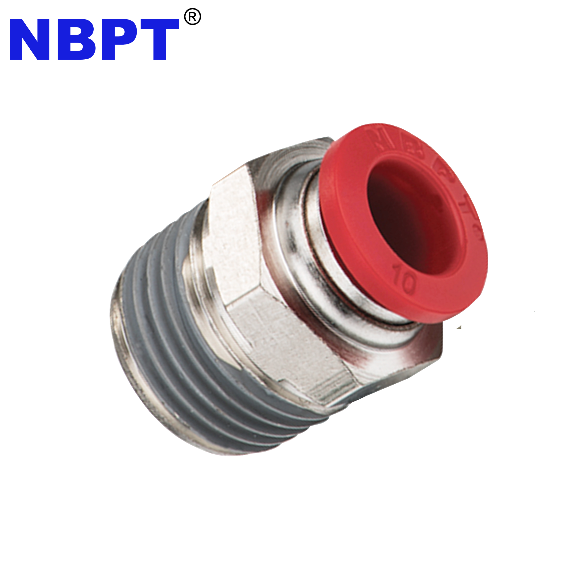 PC Series Male Threaded Straight Connector Air Hose Tube Brass Connector One Touch Push in Fittings