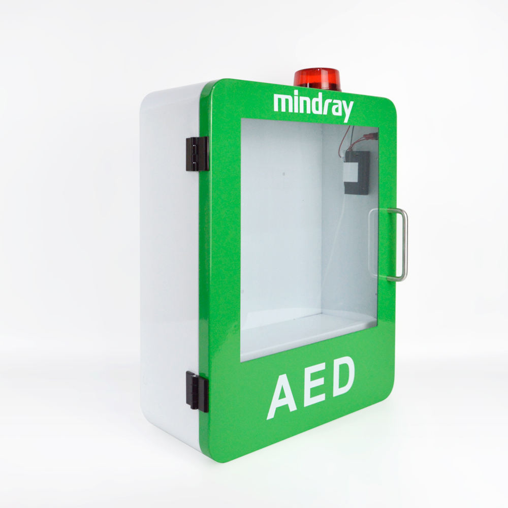 WAT M9 sturdy metal wall mount first aid box with strobe light AED cabinet