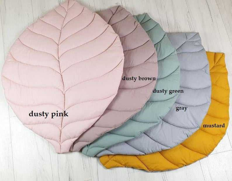 Leaf baby Linen gorgeous play mat rug baby floor nursery all colorful leaf mat