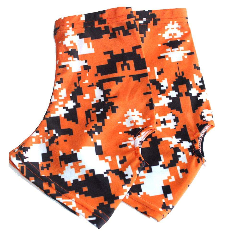 Wholesale polyester/spandex cleat cover custom sublimation football spats