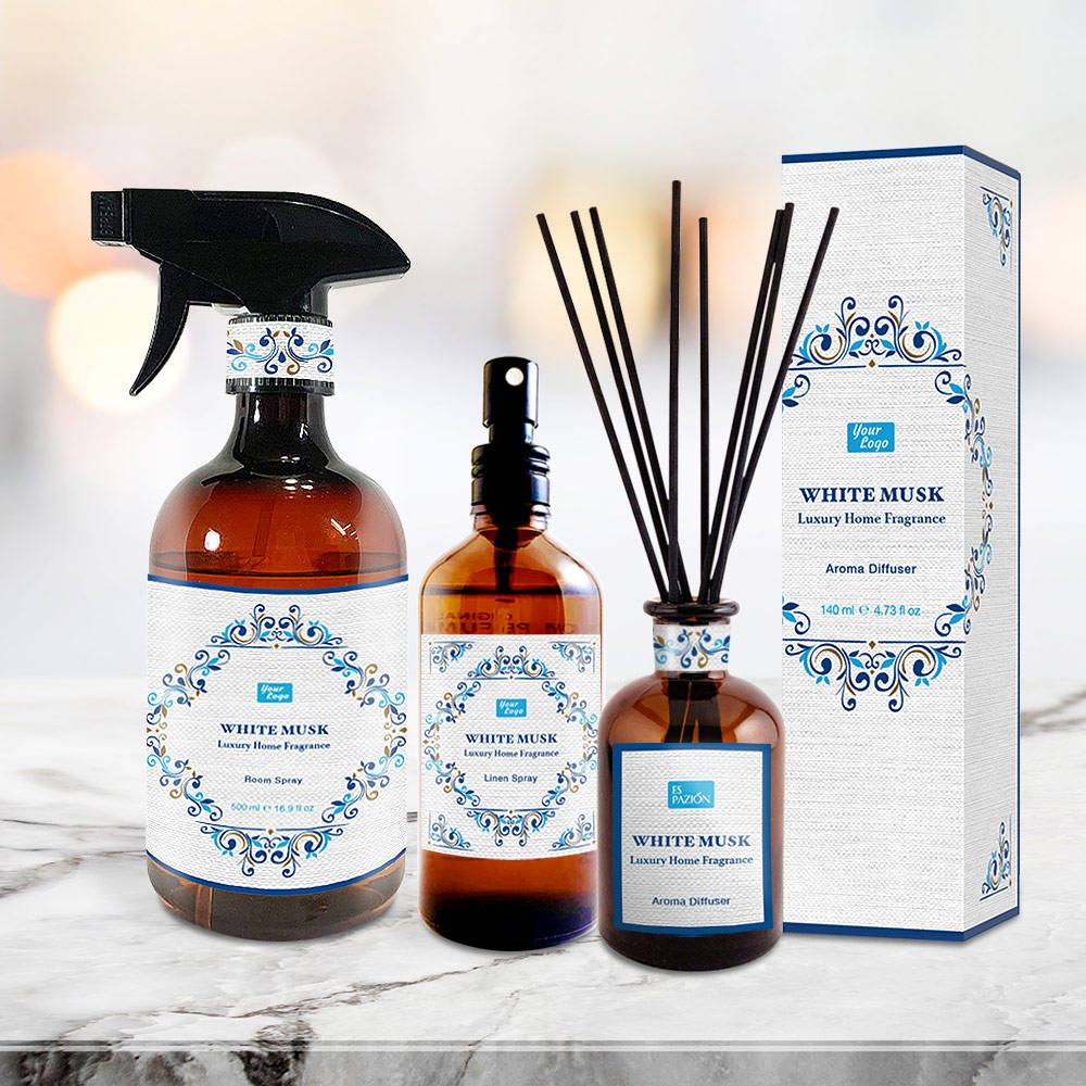 Private Label Aroma Oil Reed Diffuser Packaging Gift Box Room Spray Stick Air Freshener Luxury Home Fragrance