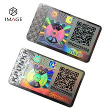 3D Custom Hologram Sticker / Holographic Security Label with QR Code and Serial Number