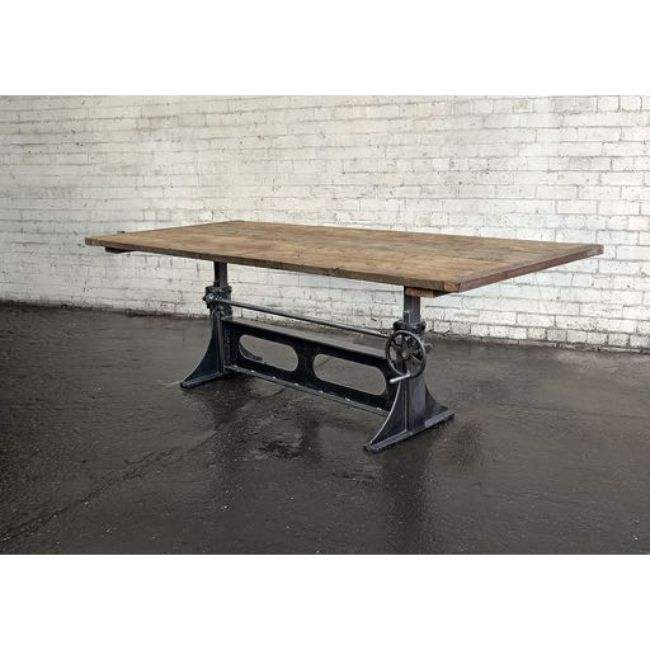 CRANK TABLE BASE FOR DINING TABLE ADJUSTABLE TO BAR TABLE HEIGHT 76 CMS TO 106 CMS