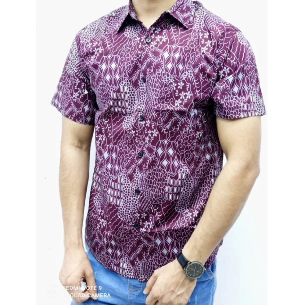 NEW ARRIVAL Batik Shirt 100% Cotton S To 3XL For Men Casual Short Sleeve Batik Shirt High Quality In Lowest Price Ever