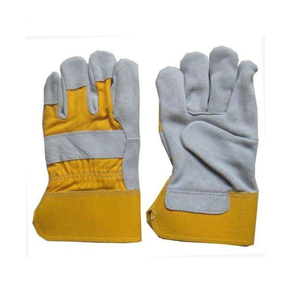 leather combination safety work gloves