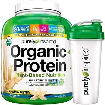 Custom formulation comparable to Plant Based with Pea & Brown Rice Protein Shake Powder + Shaker Bottle