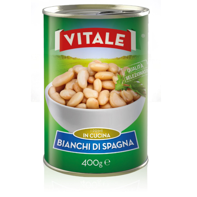 Butter beans in brine bianchi di spagna VITALE - 400 grams canned